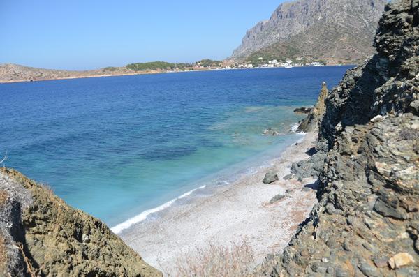 Udsigten fra en af klipperne på Kalymnos.