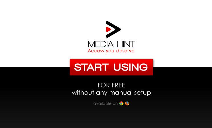 Media Hint er en udvidelse til Chrome/Firefox der giver dig adgang til bl.a. Netflix US, HULU og Pandora.