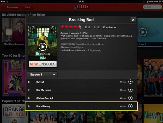 Bemærk at det nyeste afsnit af Breaking Bad nu ligger od venter på min iPad, takket være Ublock-US.